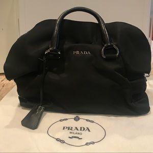 Prada Bauletto Tessuto  Nylon Ruffle Bag